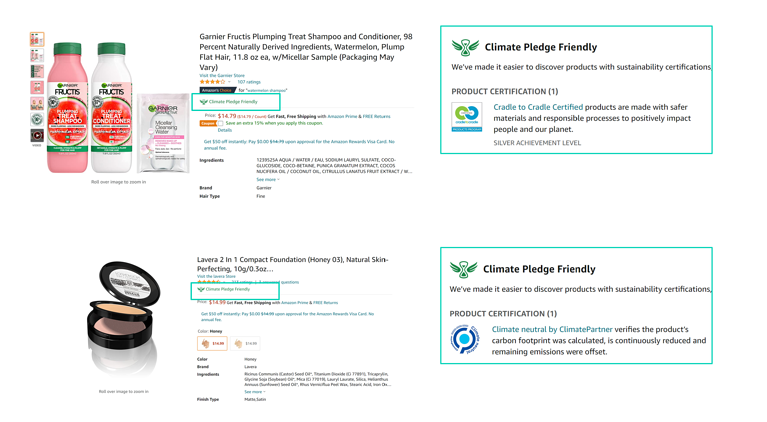 Amazon Climate Pledge Friendly badge-HBA brands