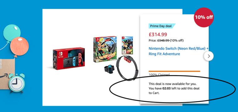 Prime Day Nintendo Switch in UK