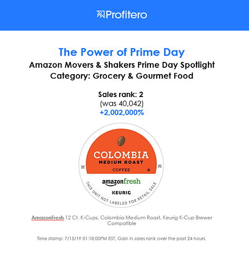 Prime Day - AmazonFresh coffee pod