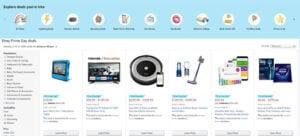 Prime Day - Amazon navigation