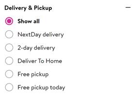 Walmart shipping options