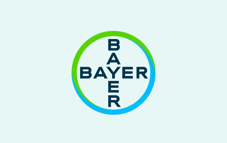 Bayer logo on green background
